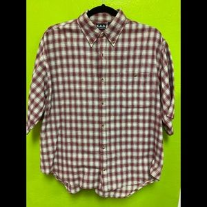 K.A.D. Men's Shirt Short Sleeve Button Front 3X